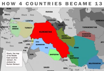 How 4 countries became 13